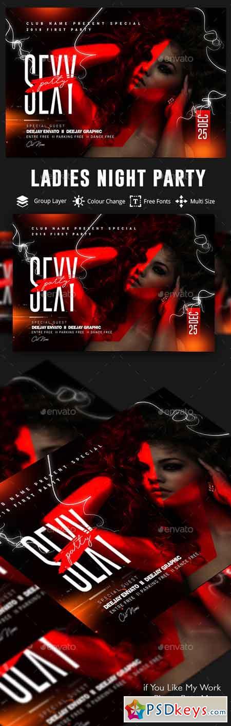 Ladies Night Party Flyer 22827389