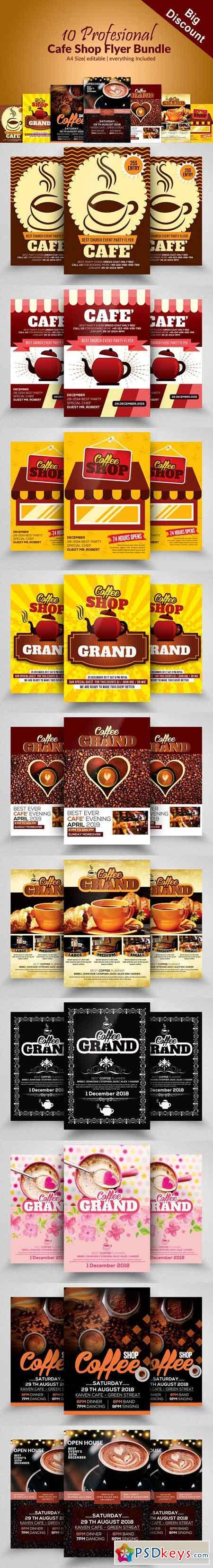 10 Cafe Ad Flyer Poster Bundle 2882419