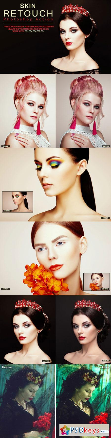 Skin Retouch Photoshop Action 3509467