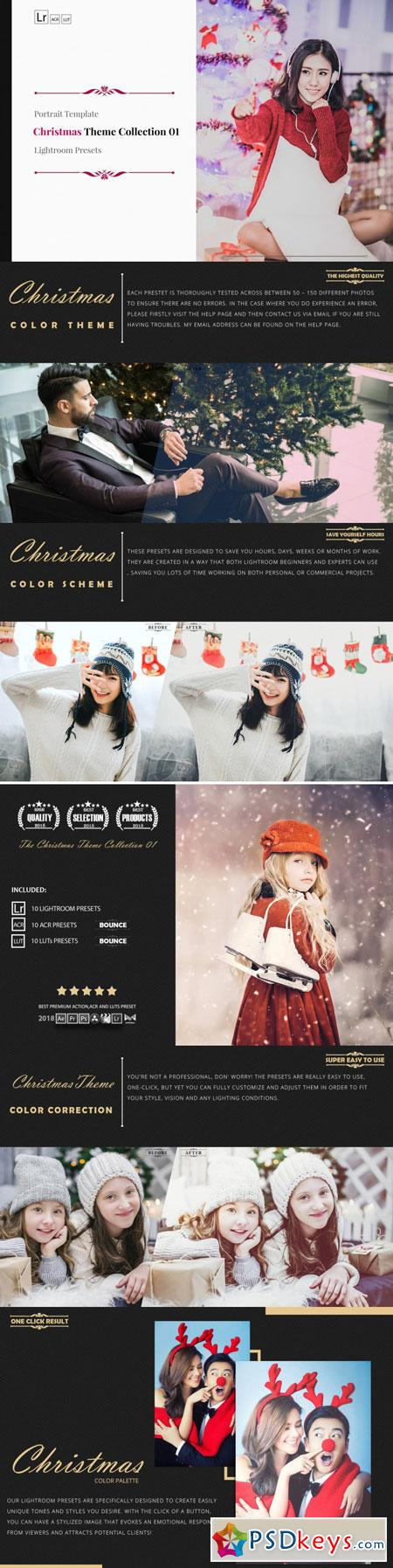 Christmas Theme Color Grading 01 Premium Lightroom 3508987