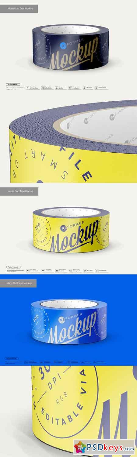 Matte Duct Tape Mockup 3202243