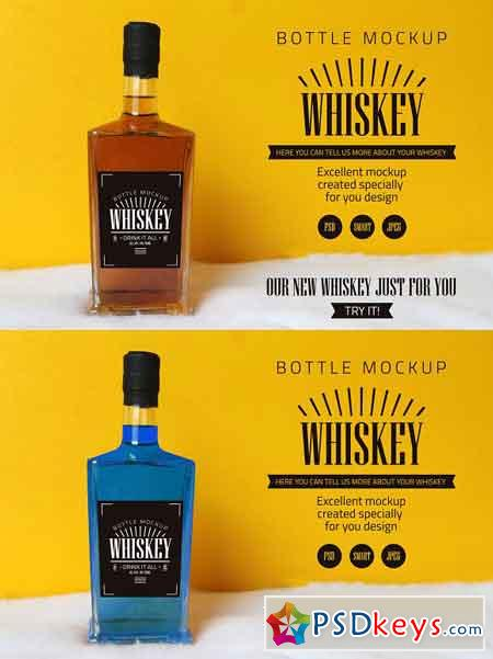 Whiskey bottle mockup 3188036