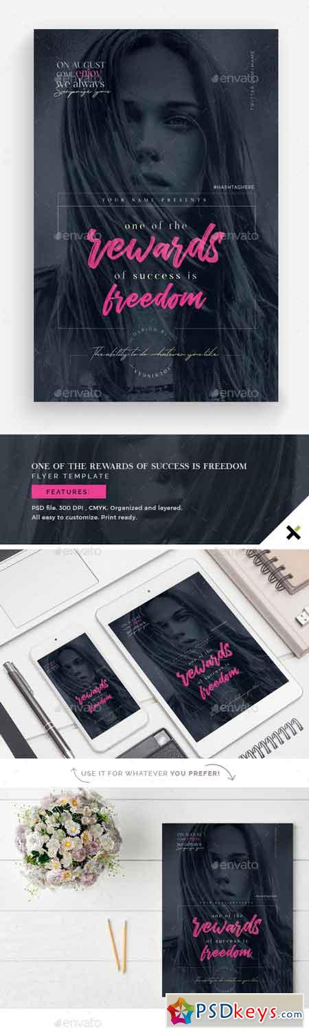 On Of the Rewards of Success is Freedom Flyer Template 22784523