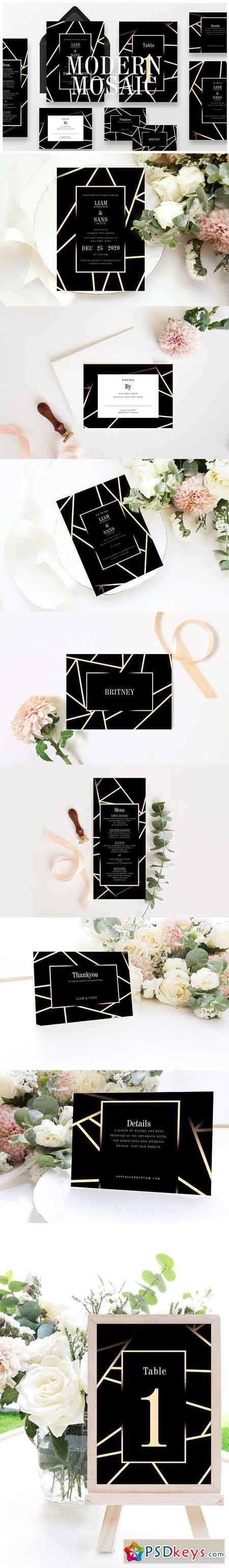 Modern Mosaic Wedding Suite Ac 127 3187490