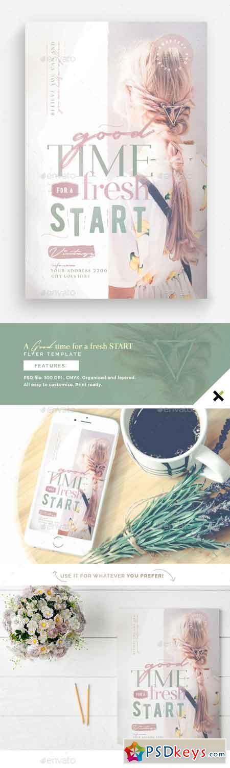 A Good Time For A Fresh Start Flyer Template 22784685