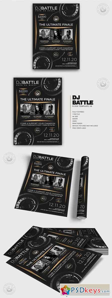 DJ Battle Flyer Template V6 3187578