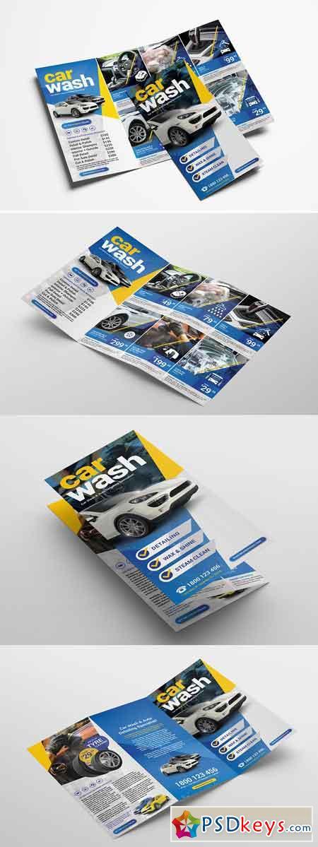 Car Wash Trifold Brochure Template 3195553
