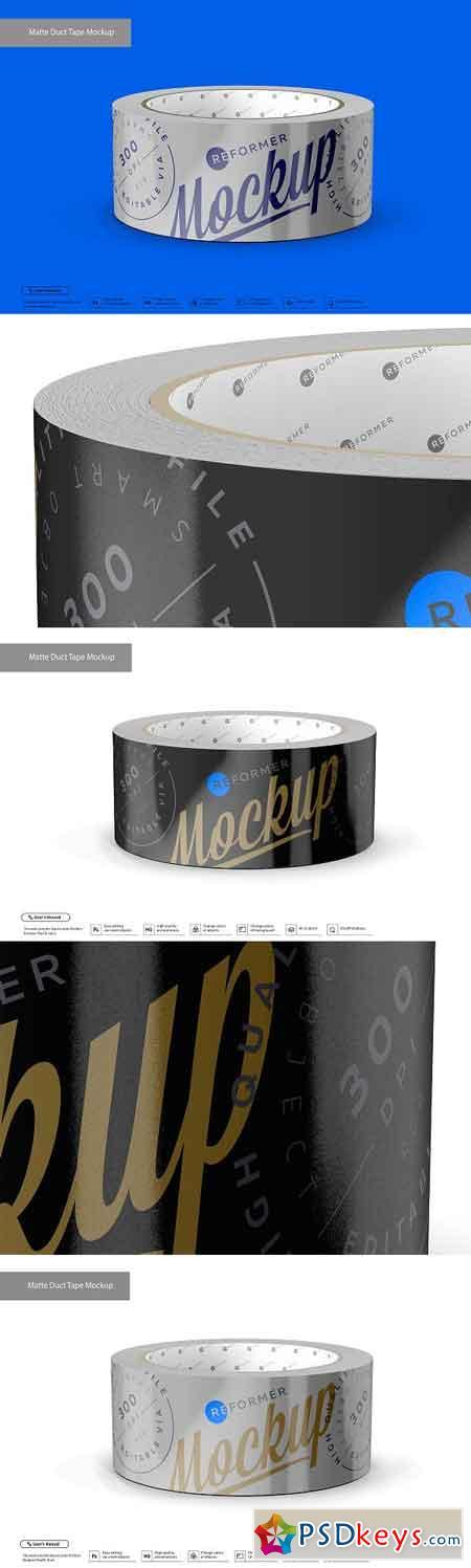 Matte Metallic Duct Tape Mockup 3202473