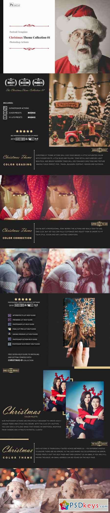 Christmas Theme Color Grading Collection 01 3509435