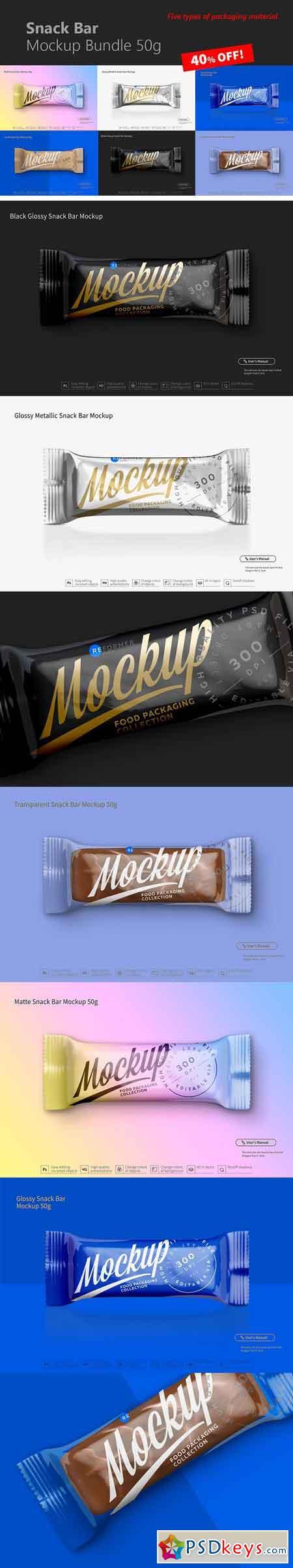 Snack Bar Mockup Bundle 50g 3165915