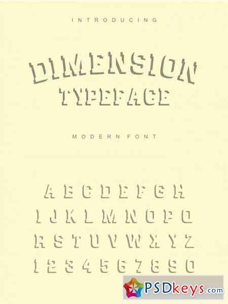 Dimension - striped font 3507841