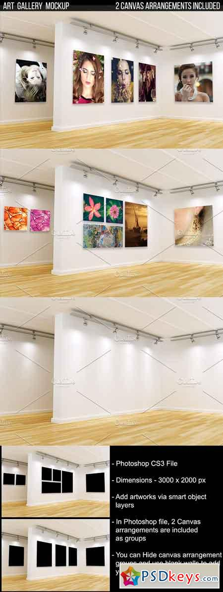 Art Gallery Mockup 3188830