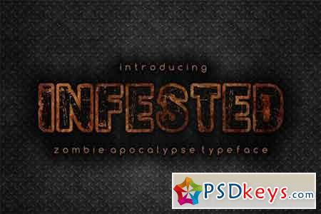 Infested - apocalyptic display font