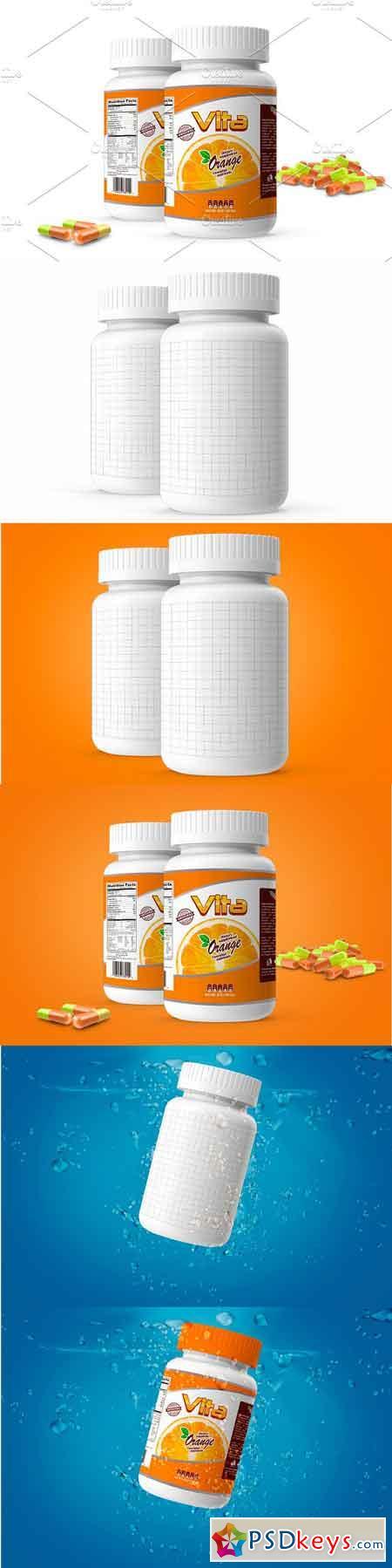 Pills Botle Vitamin 3087467