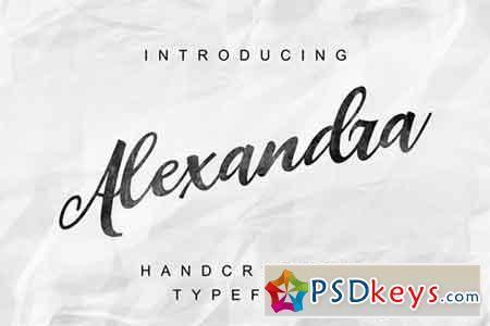 Alexandra handcrafted script font