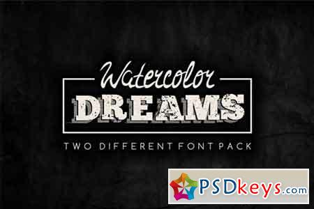 Watercolor Dreams - two different font set