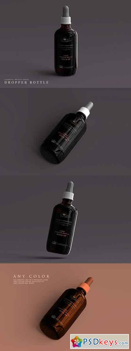 Large Dropper Bottle Mockup 3066137