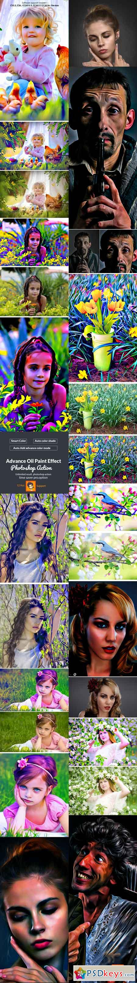 Advance Oil Paint Effect Photoshop Action 22700182