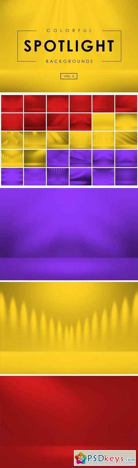 Colorful Spotlight Backgrounds Vol 2