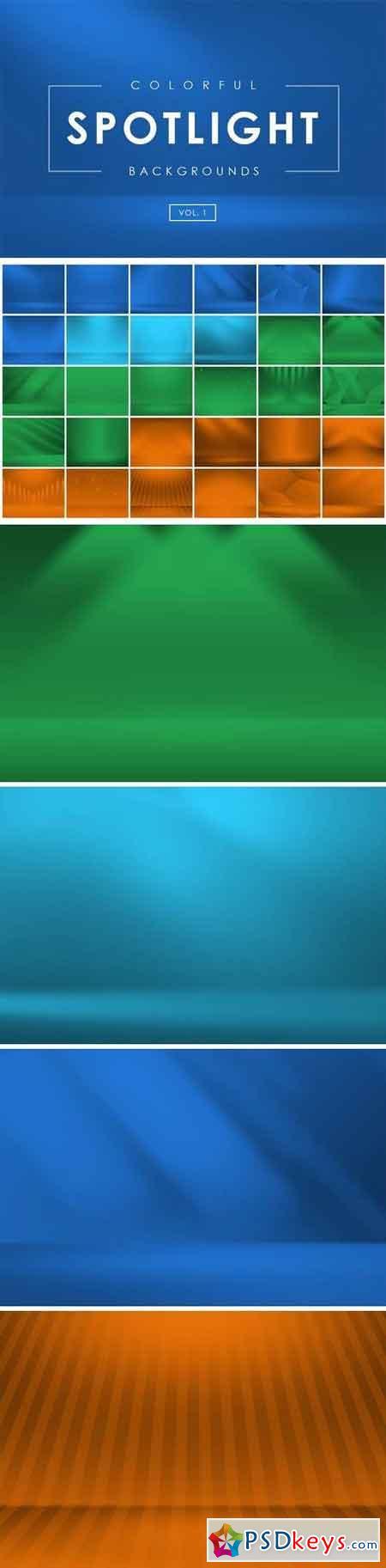 Colorful Spotlight Backgrounds Vol 1