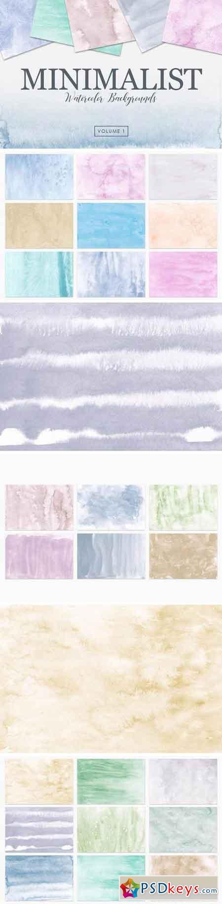 Minimalist Watercolor Backgrounds Vol 1
