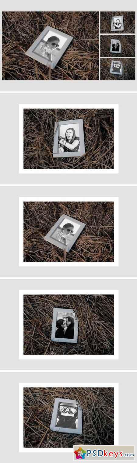 Photo Frame on Haistack Mock Up