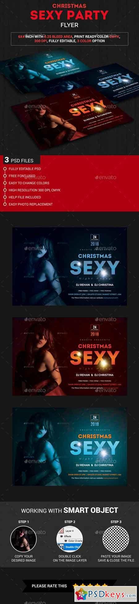 Christmas Sexy Party Flyer 22876970