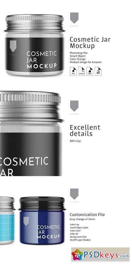 Cosmetic Glass Jar Mockup 3 3151514