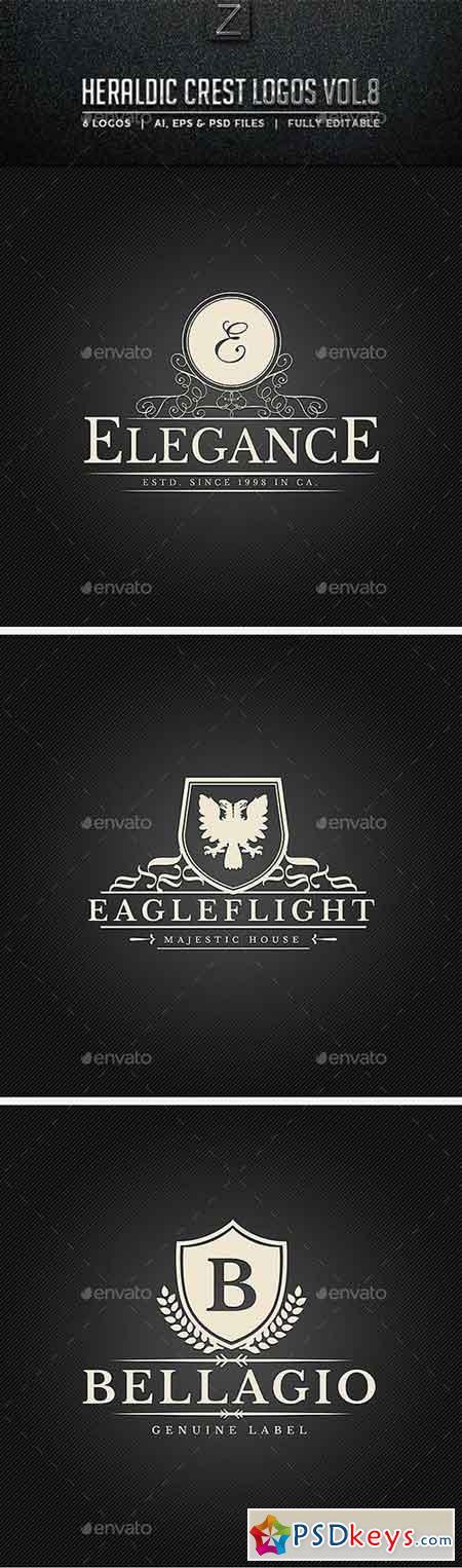 Heraldic Crest Logos Vol.8 10723321