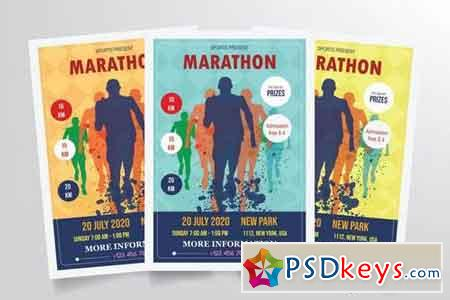 Marathon Flyer Template