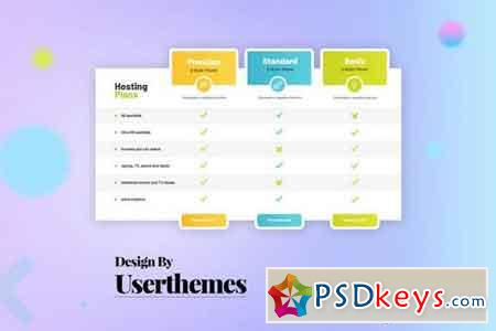 Business Pricing Table UX Template PSD