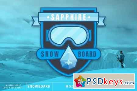 Winter Sport Series Snowboard Logo Badge