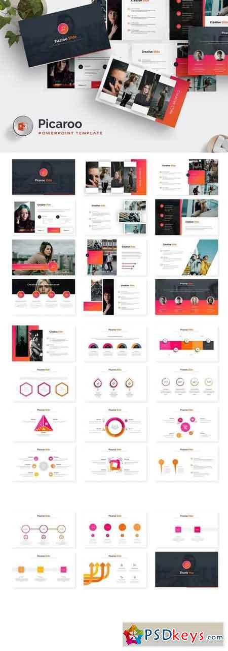 Picaroo - Powerpoint, Keynote, Google Sliders Templates