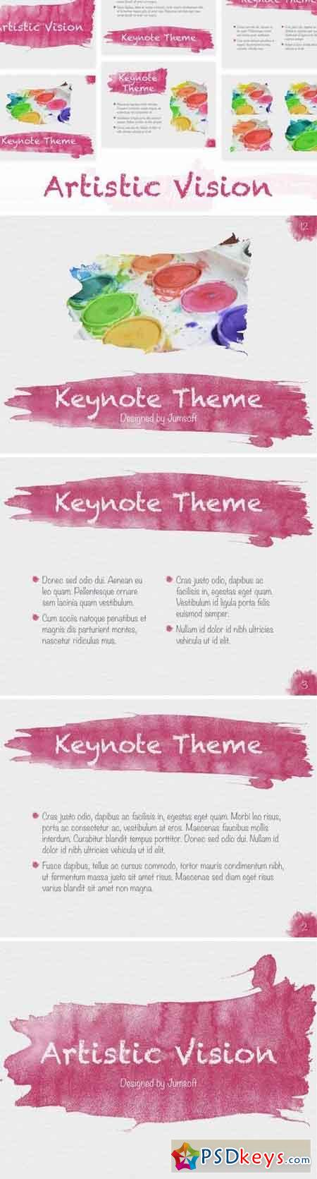 Artistic Visions Keynote template