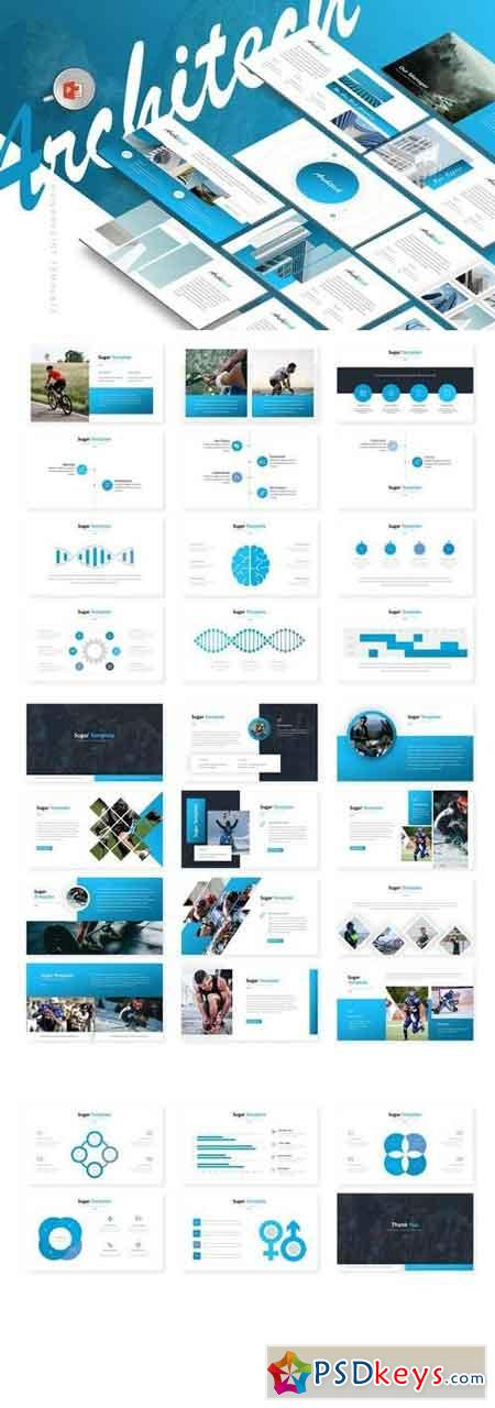 Architech - Powerpoint, Keynote, Google Sliders Templates