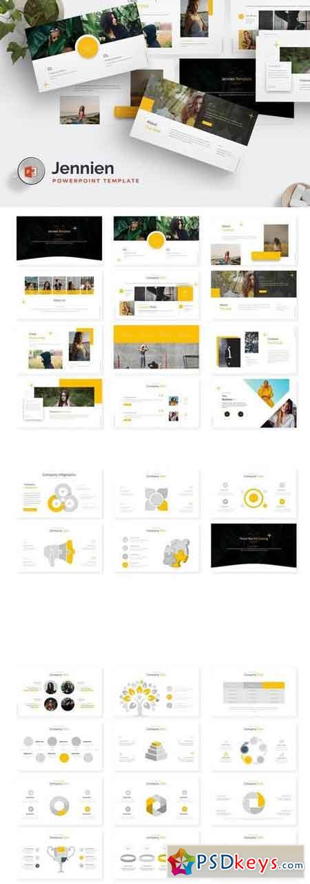 Jennien - Powerpoint, Keynote, Google Sliders Templates