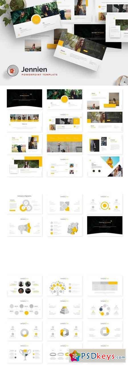 Jennien - Powerpoint, Keynote, Google Sliders Templates