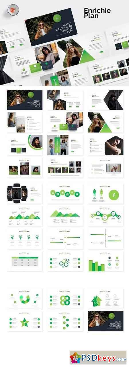 Enrichie - Powerpoint, Keynote, Google Sliders Templates
