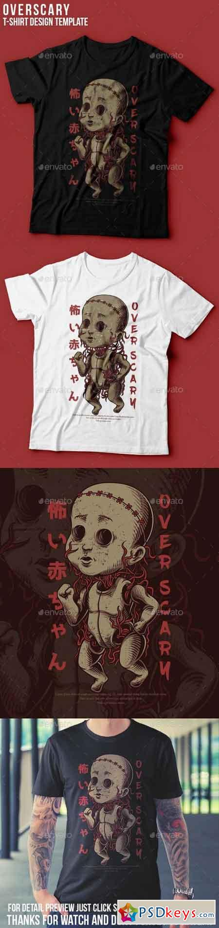 Over Scary T-Shirt Design 22765586