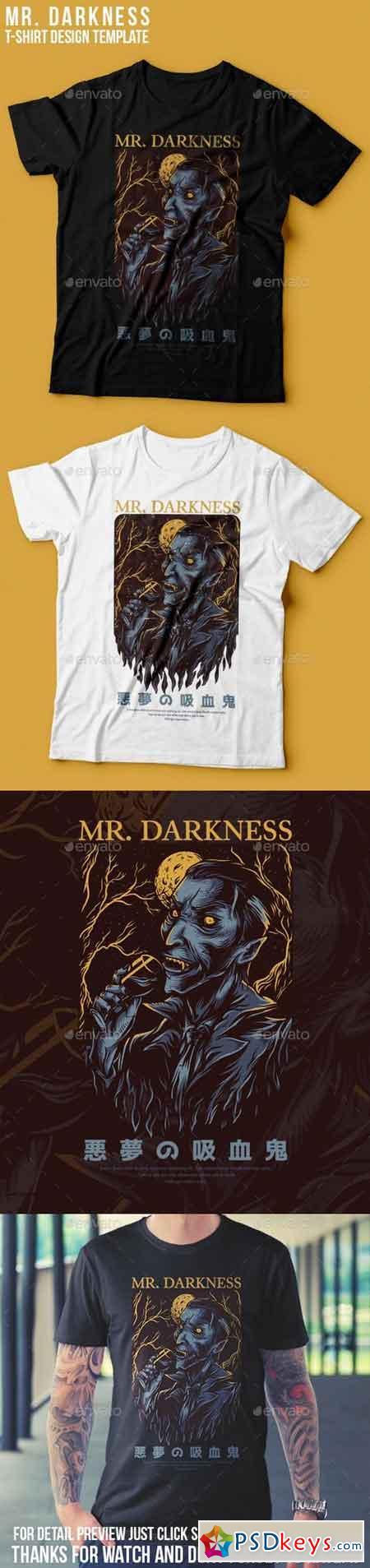 Mr. Darkness T-Shirt Design 22765649
