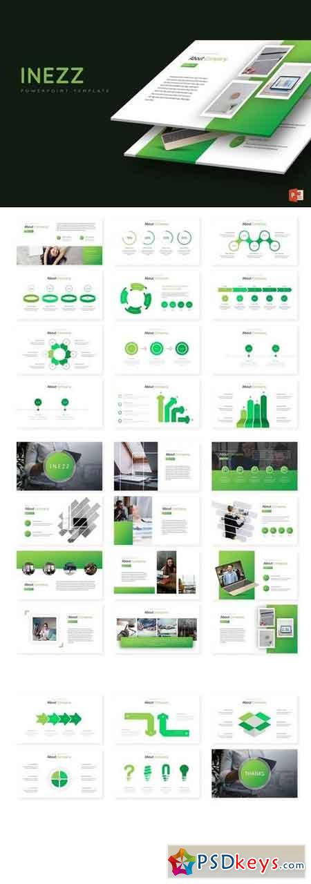 Inezz - Powerpoint, Keynote, Google Sliders Templates