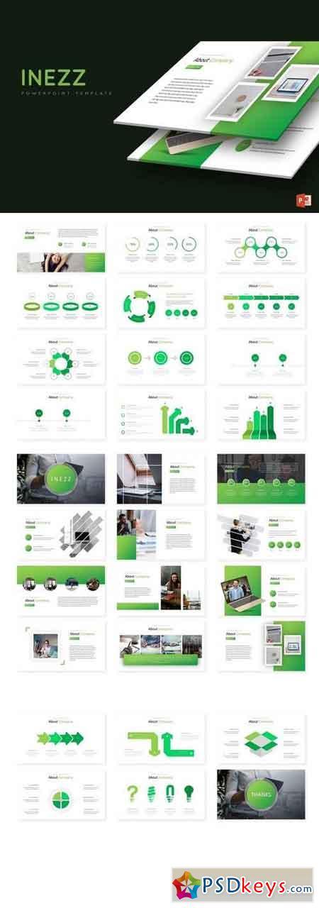 Inezz - Powerpoint, Keynote, Google Sliders Templates