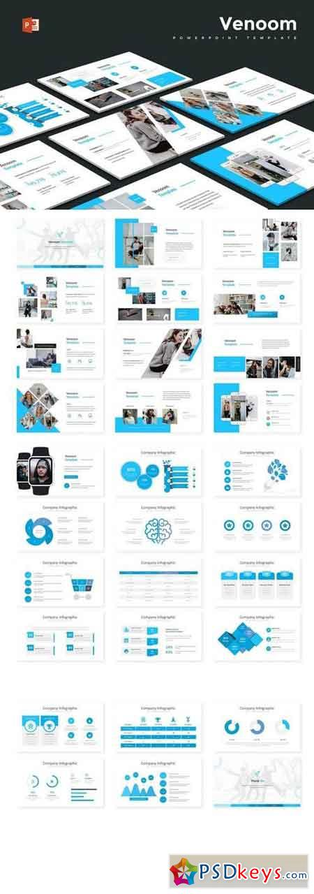 Venoom - Powerpoint, Keynote, Google Sliders Templates