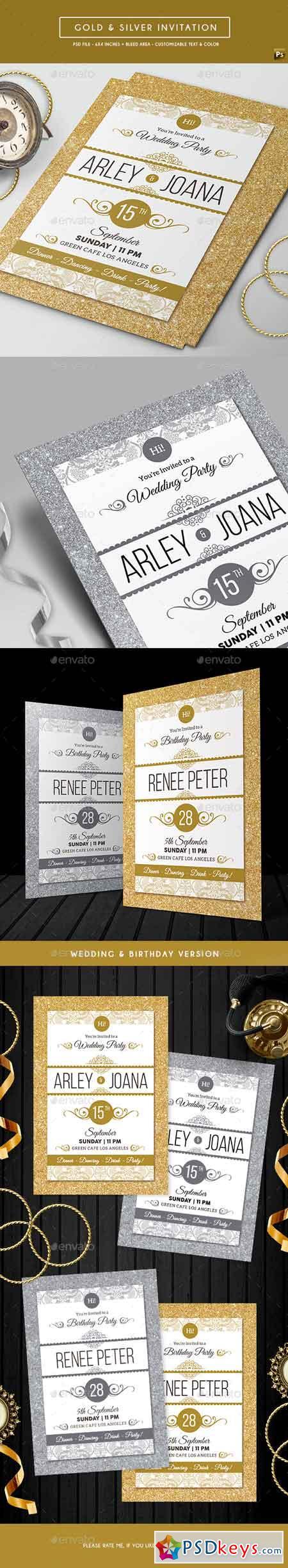 Gold & Silver Invitation 16901972