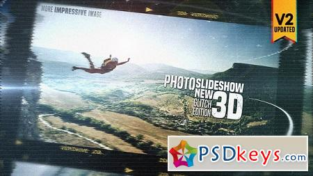 Photo Slide Show 3D New Glitch Edition V2 21647872 After Effects Template