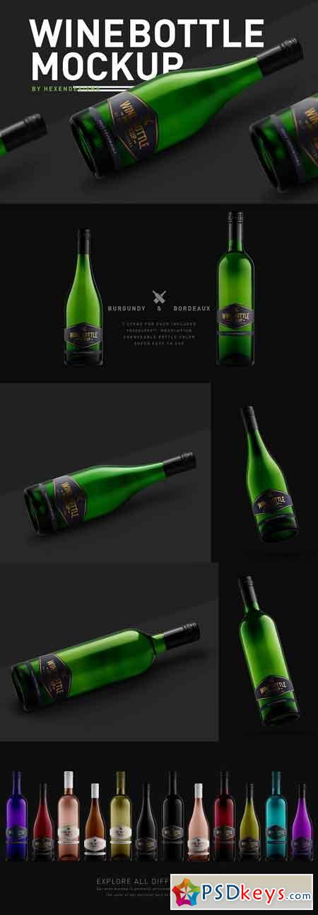 Wine Bottle Mockup 3207209