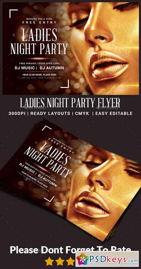 Ladies Night Party Flyer 22871346