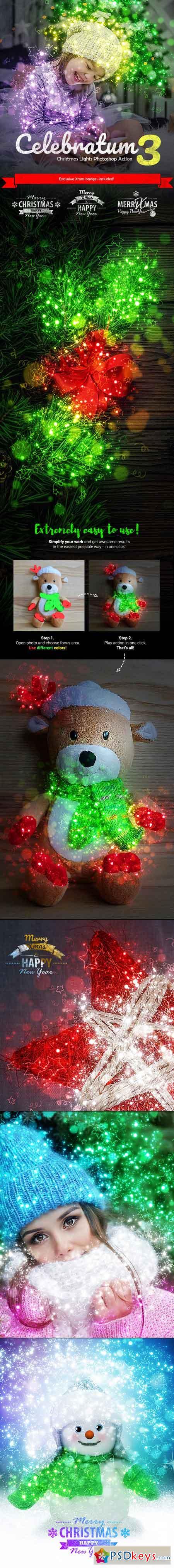Celebratum 3 - Christmas Lights Photoshop Action 22863016