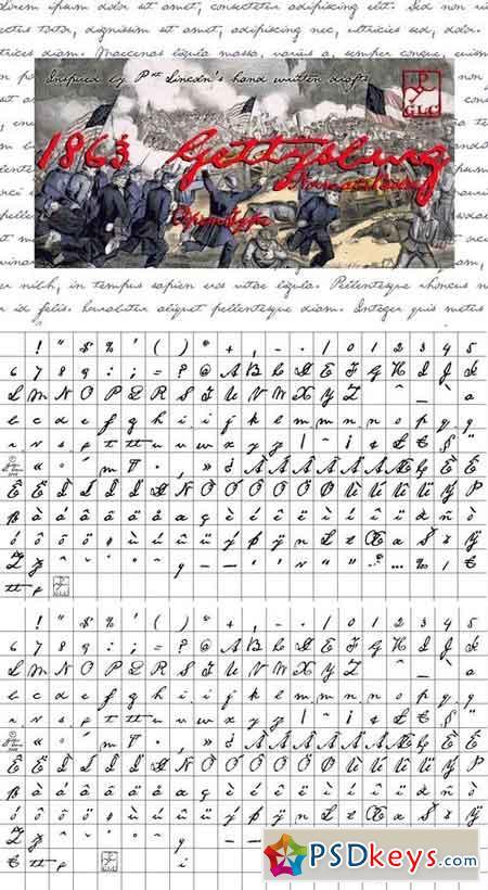 1863 Gettysburg Set (N+B) 3210547