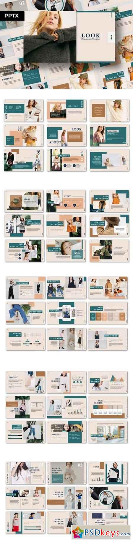 Look Presentation - Powerpoint&Keynote Template